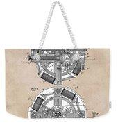 patent art Edison 1888 Phonograph Weekender Tote Bag