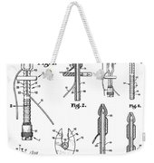 Patent Drawing For The 1966 Medical Device For Control Of Enemata By R. E. Miller Weekender Tote Bag