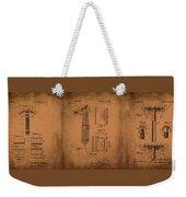 Patent  Razor Art Barry Toles Johansan Weekender Tote Bag