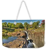 Paterson Water Falls Black And White Weekender Tote Bag