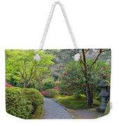 Path At Japanese Garden Weekender Tote Bag