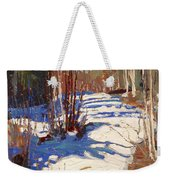 Path Behind Mowat Lodge Weekender Tote Bag