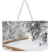 Path In Snow Weekender Tote Bag