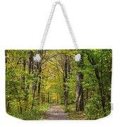 Path In The Woods During Fall Leaf Season Weekender Tote Bag