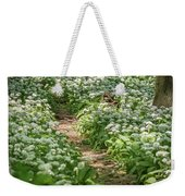 Path Through A Deciduous Forest, Wild Garlic Weekender Tote Bag