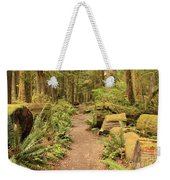 Path Through Mossy Forest Weekender Tote Bag