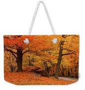 Path Through New England Fall Foliage Weekender Tote Bag