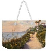 Path To Bacara , With Golden  Weekender Tote Bag