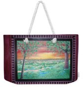 Path To The Pedernales River With Painted Frame Weekender Tote Bag