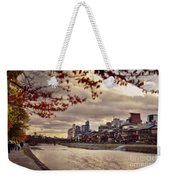 Pathway Along Kamo River In A Beautiful Dramatic Autumn Sunset S Weekender Tote Bag