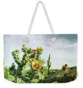 Patina Green Desert Bloom Weekender Tote Bag