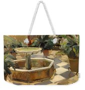 Patio Fountain In Seville Weekender Tote Bag