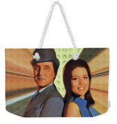 Patrick Macnee And Diana Rigg, The Avengers Weekender Tote Bag