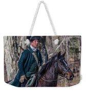 Patriot On Horse At Tower Park Battle Weekender Tote Bag