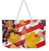 Patriotic Autumn Colors Weekender Tote Bag