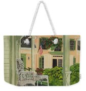 Patriotic Country Porch Weekender Tote Bag