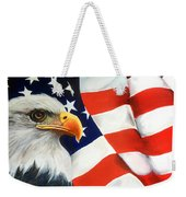 Patriotic Eagle And Flag Weekender Tote Bag