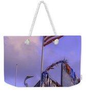 Patriotic Egret Weekender Tote Bag
