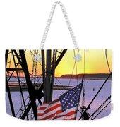Patriotic Fisherman Weekender Tote Bag