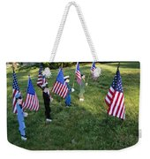 Patriotic Lawn Ornaments Represent Weekender Tote Bag
