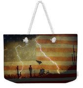 Patriotic Operation Desert Storm Weekender Tote Bag