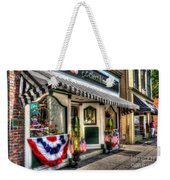 Patriotic Street Weekender Tote Bag by Debbi Granruth