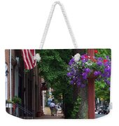 Patriotic Street In Philadelphia Weekender Tote Bag