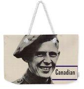 Patriotic World War 2 Poster Us Allies Canada Weekender Tote Bag