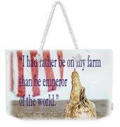Patriotic Hen Weekender Tote Bag