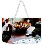 Pattern Book Weekender Tote Bag by Susan Savad