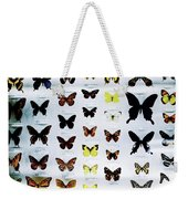 Pattern Made Out Of Many Different Butterfly Species Weekender Tote Bag