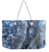 Patterned Ice Weekender Tote Bag