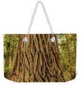 Patterned Redwood Weekender Tote Bag