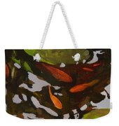 Patterns Of Green And Gold Weekender Tote Bag