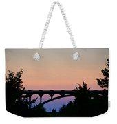 Patterson Bridge Sunrise Weekender Tote Bag