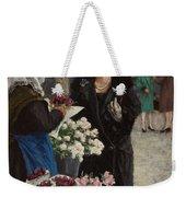 Paul Fischer, 1860-1934, Flower Market In Copenhagen Weekender Tote Bag
