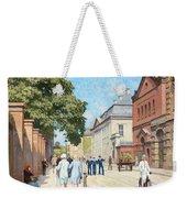 Paul Fischer, Sunny Street Scene, Bredgade, Copenhagen. Weekender Tote Bag