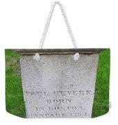 Paul Revere Grave  Weekender Tote Bag