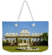 Pavilion And Fountain, Udaipur, India Weekender Tote Bag