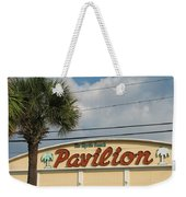 Pavilion With Palm Weekender Tote Bag