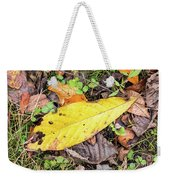 Paw Paw Leaf Fall Colors Weekender Tote Bag