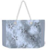 Paw Print Snowflake Stars - Blue/grey Weekender Tote Bag