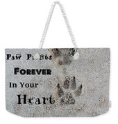Paw Prints Forever In Your Heart Weekender Tote Bag