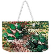 Paw Prints In Green And Red And Yellow Weekender Tote Bag