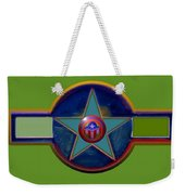 Pax Americana Decal Weekender Tote Bag by Charles Stuart