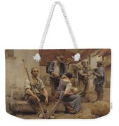 Paying The Harvesters Weekender Tote Bag by Leon Augustin Lhermitte