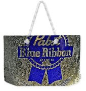 Pbr  Bucket O Beer  Weekender Tote Bag by Chris Berry