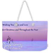 Peace And Love For Christmas Card Weekender Tote Bag