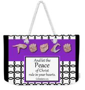 Peace - Bw Graphic Weekender Tote Bag