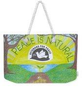 Peace Is Natural Weekender Tote Bag